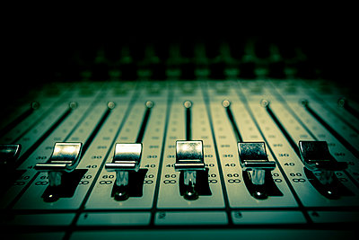 Mixing console detail  - p1057m1444645 by Stephen Shepherd