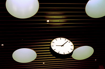 clock and lights on ceiling - p3880191 by Jim Green