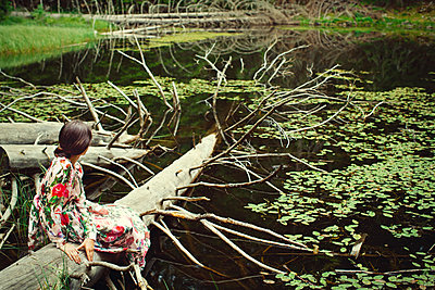 Girl by a lake - p1432m2273305 by Svetlana Bekyarova