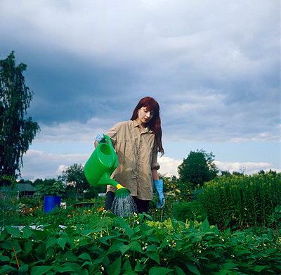 Woman at kitchen garden - p3223051 by Sari Poijärvi