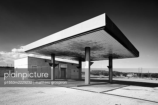 Remote petrol station - p1553m2229232 by matthieu grospiron