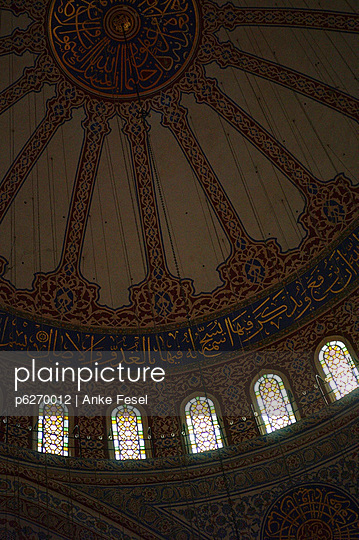 deckengewoelbe der blauen moschee - p6270012 von Anke Fesel