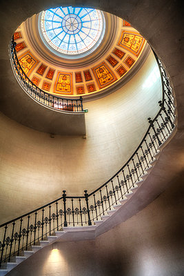 Elegant Staircase number 1 - p1154m1193278 by Tom Hogan