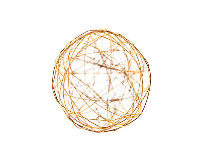 Golden wire ball - p401m1465009 by Frank Baquet