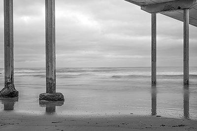 Ocean Beach Pier. San Diego, California, USA. - p1436m2020732 by Joseph S. Giacalone