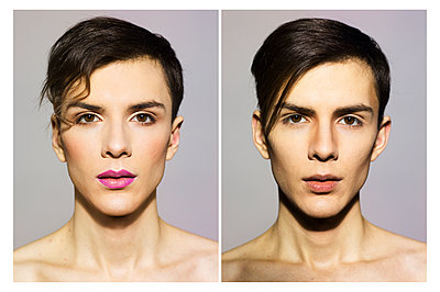 Transgender Porträt - p1462m1548196 von Massimo Giovannini