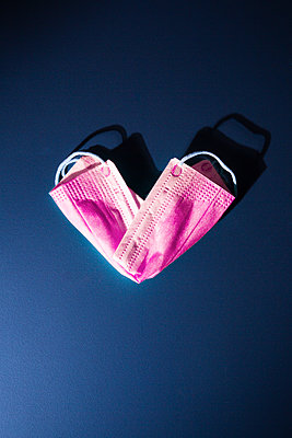 Heartshaped protective mask - p1149m2176854 by Yvonne Röder