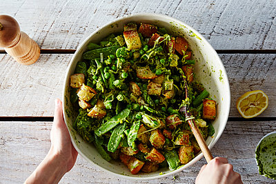 Spring Vegetable Panzanella - p1379m1488063 by James Ransom