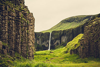 Waterfall east ofKirkjubaejarklaustur, Iceland - p1084m986820 by Operation XZ