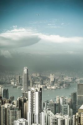 Hongkong Stadtlandschaft - p1202m1061268 von Jörg Schwalfenberg
