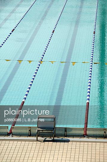 Starting block of swimming pool - p3883085 by L.B.Jeffries