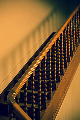 Wooden stairs - p432m815783 by mia takahara