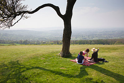 Picnic on a hill top - p1057m856871 by Stephen Shepherd