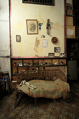 Interior of shabby old Cuban house - p3314430 by Gail Symes