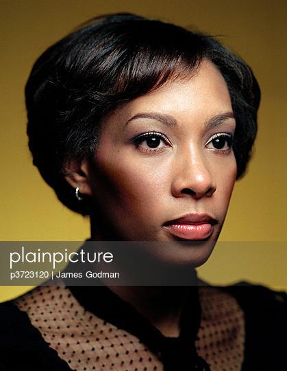 Headshot of African-American woman - p3723120 by James Godman