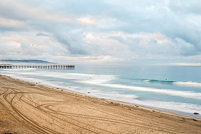 Mission Beach and Crystal Pier. San Diego, California, USA. - p1436m2021546 by Joseph S. Giacalone