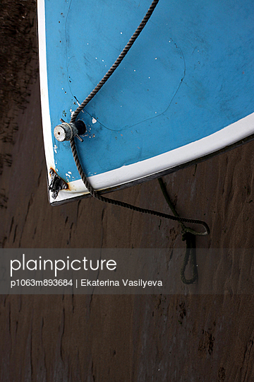 Boat on a beach - p1063m893684 by Ekaterina Vasilyeva