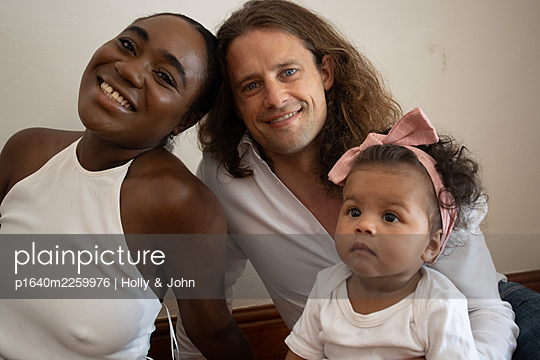 Multi ethnic family with toddler girl - p1640m2259976 by Holly & John