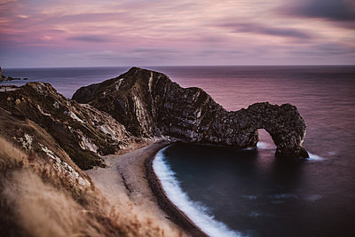 Natural arch, Durdle Door and beach - p1326m2099797 by kemai