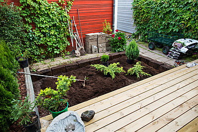 View of small garden - p312m992847f by Kari Kohvakka