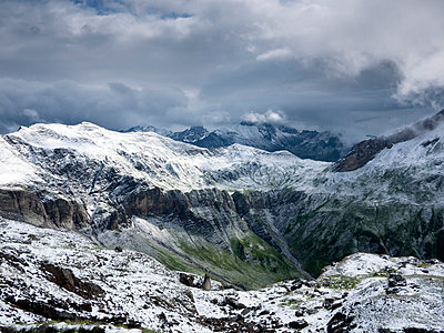 Alpine landscape with snow - p3882752 by Donna Weather