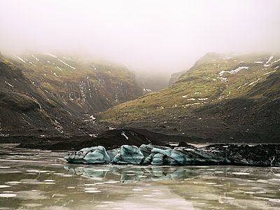 Solheimajokull Glacier in southern Iceland, between the volcanoes Katla and Eijafjallajokull, Iceland, Polar Regions - p871m2057982 by Armand Tamboly