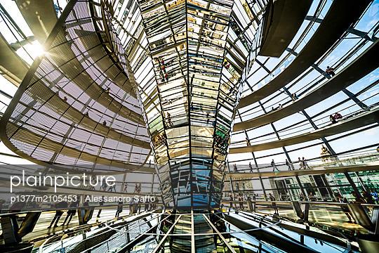 Germany, Berlin, Berlin Mitte, Reichstag Parliament Building, Bundestag interior - p1377m2105453 by Alessandro Saffo