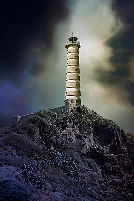 Lighthouse on Hilltop - p1248m1045166 by miguel sobreira