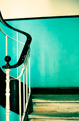 Turquoise stairway - p4320561 by mia takahara