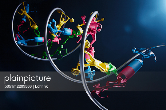 DNA model, collage - p851m2289586 by Lohfink