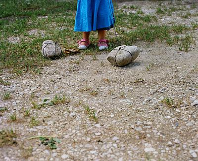 Stones on strings - p453m933994 by Mylène Blanc