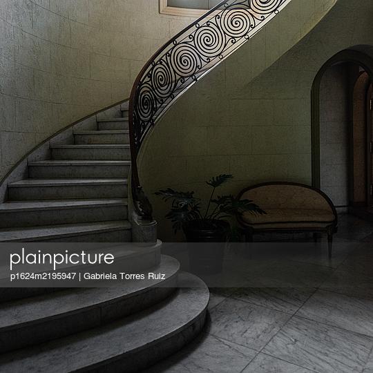 Old winding staircase, Havana - p1624m2195947 by Gabriela Torres Ruiz