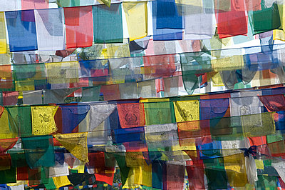Prayer flags - p310m815084 by Astrid Doerenbruch