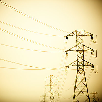 Electric towers. - p343m1554778 by Ron Koeberer