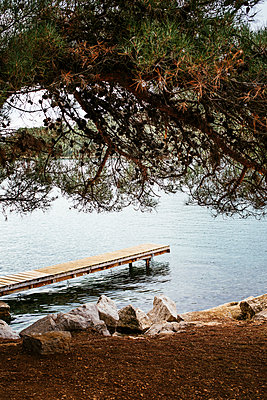 Wooden pier in the bay of Vrsar - p728m2027243 by Peter Nitsch