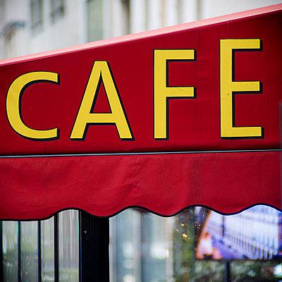 Cafe in Paris - p1654m2253681 by Alexis Bastin