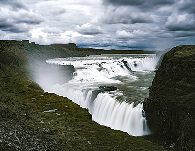 Gullfoss Waterfall - p1549m2158034 by Sam Green
