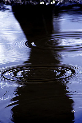 Wellenringe in einer Pfuetze im Regen - p9792175 von Jaeckel