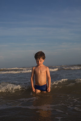 Kid in the ocean - p1308m2126689 by felice douglas