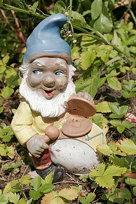 Zwerg im Garten - p1650484 von Andrea Schoenrock