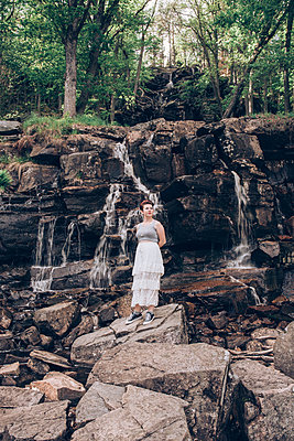 By the waterfall - p1507m2092589 by Emma Grann