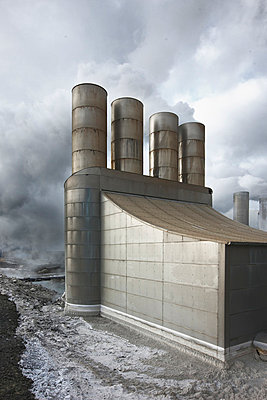 View of geothermal power station - p31224812f by Vince Reichardt
