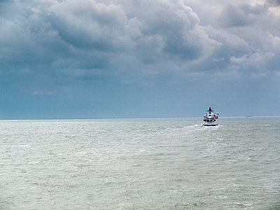 Ferry on stormy sea - p3883308 by Andre