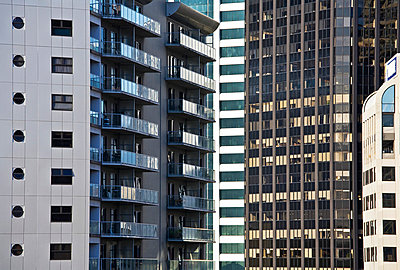 High rise towers, Auckland, New Zealand - p4426848f by Design Pics