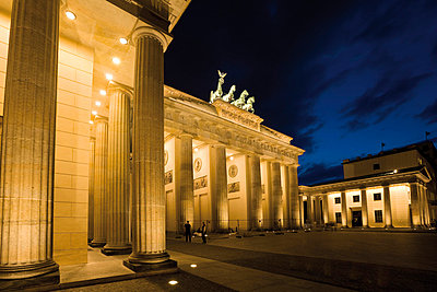 Brandenburg Gate at night - p3007388f by Dieter Heinemann