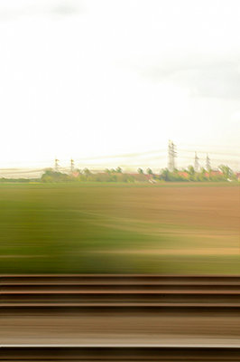 In a train - p470m658625 by Ingrid Michel