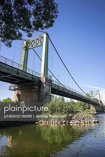 Gennes Bridge - p1402m2196083 by Jerome Paressant