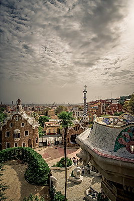 Spain, Barcelona, Güell Park - p1402m2219820 by Jerome Paressant