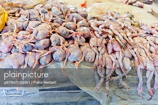 Froschschenkel auf dem Markt - p978m1123361 von Petra Herbert