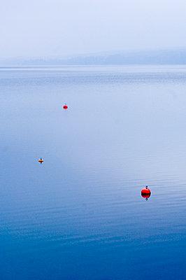Bojen auf Starnberger See, Bayern, Deutschland - p1316m1160374 von Peter von Felbert